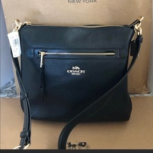 Authentic Coach Black Pebble Leather MAE Bag NWT